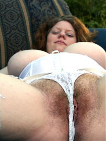 Chubby babe gets hairy snatch fucked!