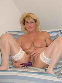 Older mature slut with overgrown pussy hair interracially fucked!